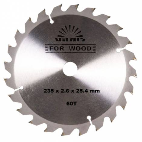Диск відрізний Vitals for wood 60T 235x2.6x25.4mm
