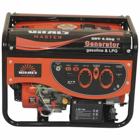 Газовий (Бензиновий) генератор VITALS MASTER EST 2.8BG