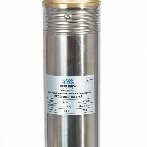 Насос заглибний свердловинний відцентровий стійкий до піску Vitals Aqua PRO 3-20SD 1851-0.8r