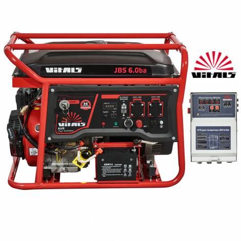 Бензиновый генератор Vitals JBS 6.0ba ATS