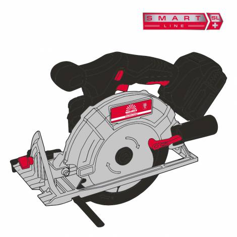 Пила циркулярна акумуляторна Vitals Professional ARg 18165Pa BS